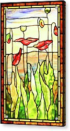 Poppies 1 Acrylic Print by Kristin Elmquist