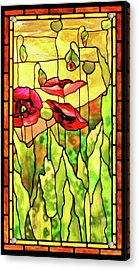 Acrylic Print featuring the photograph Poppies 2 by Kristin Elmquist