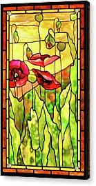 Poppies 2 Acrylic Print by Kristin Elmquist