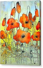 Poppies Abstraction Acrylic Print
