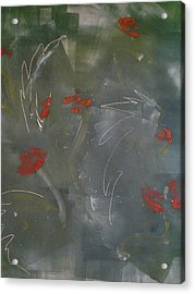Poppies At Dawn Acrylic Print by Caprice Scott