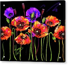 Poppies Acrylic Print by DC Langer
