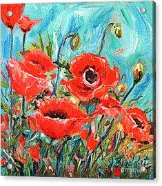 Poppies Delight Acrylic Print by Jennifer Beaudet
