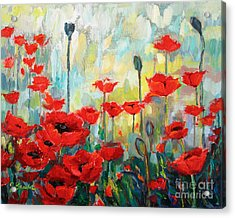 Poppies In Bloom Acrylic Print by Jennifer Beaudet