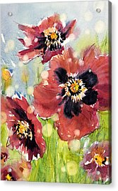 Poppies Acrylic Print by Judith Levins