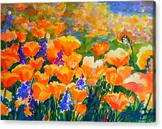 Poppies Like Hansen Acrylic Print by Therese Fowler-Bailey