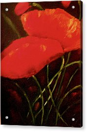 Acrylic Print featuring the painting Poppies by Marie Hamby
