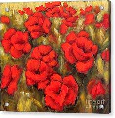 Poppies Passion Fragment Acrylic Print