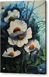 Poppies Acrylic Print by Robert Carver