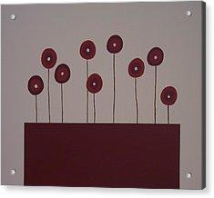 Poppies Acrylic Print by Sandy Bostelman
