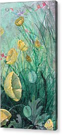 Poppies Acrylic Print by Sandy Clift