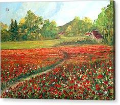 Poppies Time Acrylic Print