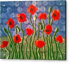 Poppies Acrylic Print by Tina Hollis