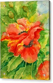 Poppiesii Acrylic Print