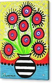 Poppin' Red Poppies Acrylic Print