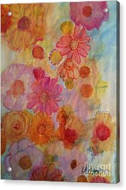 Acrylic Print featuring the painting Popping by Kim Nelson
