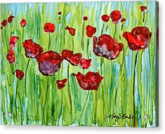 Popping Up Acrylic Print by Mary Benke