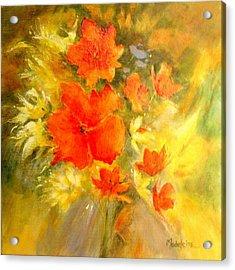 Poppy Bouquet  Acrylic Print by Madeleine Holzberg