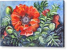 Poppy Brilliance Acrylic Print by Carol Wisniewski