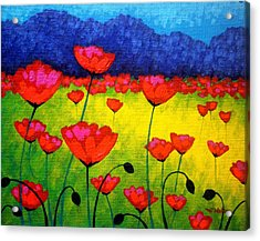 Poppy Cluster Acrylic Print