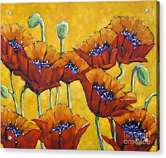 Poppy Craze By Prankearts Acrylic Print by Richard T Pranke