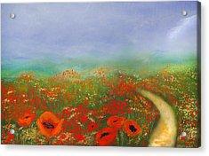 Poppy Field Impressions Acrylic Print
