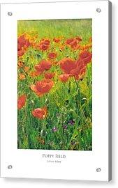 Acrylic Print featuring the digital art Poppy Field by Julian Perry