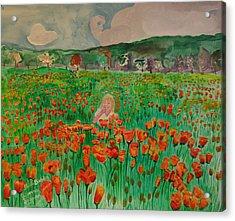 Poppy Field Acrylic Print by Shellie Gustafson