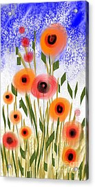 Poppy Garden Acrylic Print by Elaine Lanoue