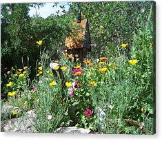 Acrylic Print featuring the photograph Poppy Garden by P Maure Bausch