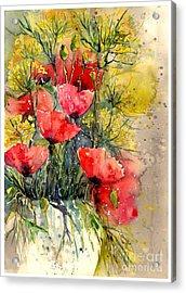 Poppy Impression Acrylic Print