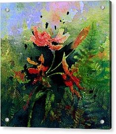 Poppy Impressions Acrylic Print by Hanne Lore Koehler