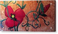Poppy One Acrylic Print by Rebecca Merola