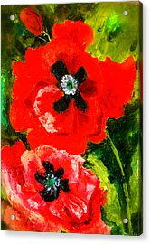 Acrylic Print featuring the painting Poppy Season by Marie Hamby
