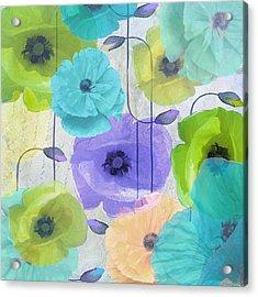 Poppy Shimmer Iv Acrylic Print by Mindy Sommers