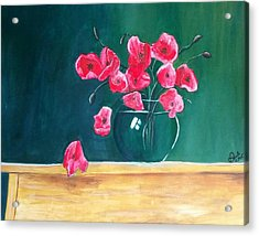 Acrylic Print featuring the painting Poppy Still Life by Carol Duarte