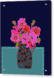 Acrylic Print featuring the painting Poppy Stille by Linde Townsend
