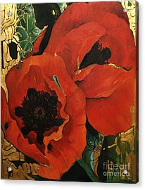 Poppygold Acrylic Print