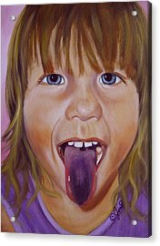Acrylic Print featuring the painting Popsicle Tongue by Joni McPherson