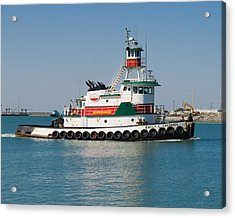 Popular Sight At Port Canaveral On Florida Acrylic Print by Allan  Hughes