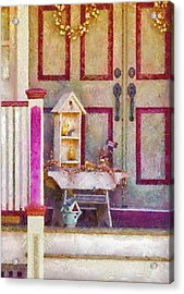Porch - Cranford Nj - The Birdhouse Collector Acrylic Print by Mike Savad