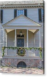 Porch Decor At The Robert King Carter House Acrylic Print by Teresa Mucha