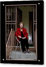 Porchwatcher Acrylic Print by Richard Gordon