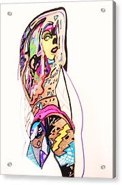 Porn Babes-amy Acrylic Print by HollyWood Creation By linda zanini