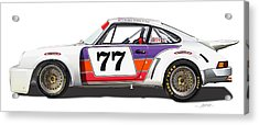 Porsche 1977 Rsr Illustration Acrylic Print