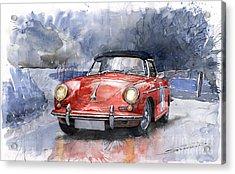 Porsche 356 B Roadster Acrylic Print by Yuriy  Shevchuk