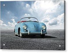 Acrylic Print featuring the digital art Porsche 356 Speedster by Peter Chilelli