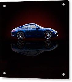 Porsche 911 Carrera - Blue Acrylic Print