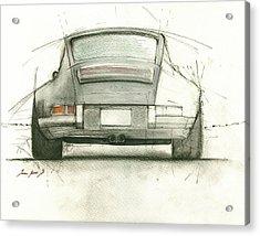 Porsche 911 Rs Acrylic Print by Juan Bosco