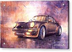 Porsche 911 Turbo 1979 Acrylic Print by Yuriy  Shevchuk